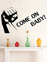 Wall Stickers Wall Decals Style Come On English Words & Quotes PVC Wall Stickers