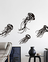 Wall Stickers Wall Decals, Modern Jellyfish PVC Wall Stickers