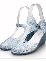 Women's Shoes PVC Wedge Heel Wedges Sandals Casual Blue/Pink/Beige