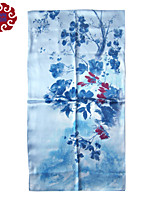 Women's Senior Silk Double Sided Long Scarf (Size:175cmX52cm)