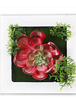Plastic Creative Tridimensional Decorative  Plant Wall Hanging