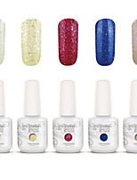 Gelpolish Nail Art Soak Off UV Nail Gel Polish Color Gel Manicure Kit 5 Colors Set S112