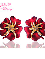Women's Birthday Gift Fashion Handmade Flower Earrings Jewelry Exaggerated