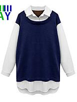 Overhemdkraag - Polyester Vrouwen - T-shirt - Lange mouw