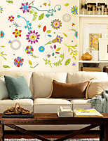 Wall Stickers Wall Decals Style Color Flower PVC Wall Stickers