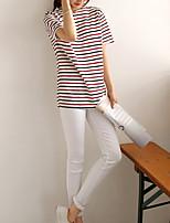 Women's White T-shirt , V Neck ½ Length Sleeve