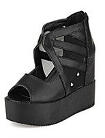 Women's Shoes Peep Toe Sandals Casual Black