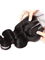 8-18inch cierre del cabello en tres partes de la onda del cuerpo del cierre de encaje virgen cierre brasileño virginal brasileño