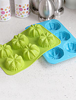 Flowers Shaped Silicone Baking Molds Ice/ Chocolate/ Cake Mold (Random Color)
