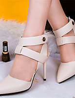 Women's Shoes Leatherette Stiletto Heel Heels/Pointed Toe Sandals/Pumps/Heels Casual Multi-color