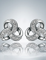 Cute/Party/Casual Silver Plated Unique Design Stud Earrings