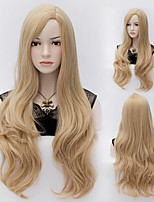 Natural Wave Blone Color Long Hair Wigs Synthetic Wave Hair Wigs Fashion Style