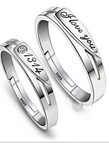 Couples' 1314 love Silver Ring With