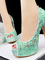 Women's Shoes Lace Stiletto Heel Heels/Peep Toe Pumps/Heels Casual Multi-color