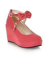 Women's Shoes Synthetic Wedge Heel Heels/Basic Pump Pumps/Heels Office & Career/Dress/Casual Black/Pink/Beige