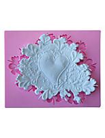 silicone bakeware a forma di cuore pizzo fondente decorazione della torta muffa