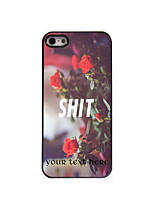 Personalized Gift SHIT and Rose Design Aluminum Hard Case for iPhone 5/5S