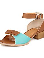 Women's Shoes Low Heel Peep Toe Sandals Office & Career/Dress Blue/Yellow/Pink/White