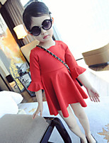Girl's Lace Sleeve A Swing Doll Dress