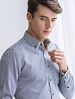Men's Long Sleeve Shirt , Cotton/Microfiber Casual/Work/Formal Striped