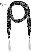 D Exceed  Fashion Multifuction Anti War Printing Chiffon Long Scarves Jewellery with Tassles