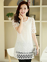 Women's Lace Blouse , Round Neck ½ Length Sleeve Lace/Hollow Out/Embroidery