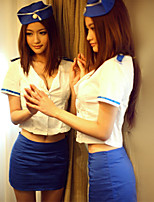 Women's Hot Low-Cut Stewardess  Uniforms Ultra Sexy Suits Nightwear
