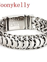 Toonykelly® Cute Animal stainless steel jewelry Silver Cuff Bracelet Bangle(1PC)