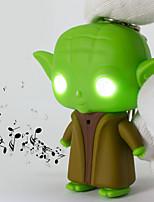 Star Wars Yoda LED Keychain Flashlight Sound Light Key Ring (Random Color)