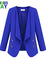 ZAY Women's Casual/Work Solid Lapel Thin Long Sleeve Slim Coat