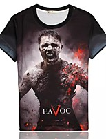Men's High Quality Personality Ereative Summer Breathable 3D Style T-shirt——Flame People