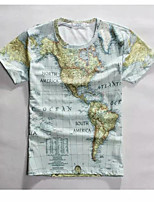 Men's High Quality Creative Unique Detailed Summer Breathable 3D Style T-Shirt——The Map