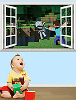 3D Wall Stickers Wall Decals Style My World Steve's Battle PVC Wall Stickers