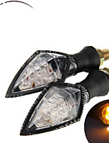 Universal Motorcycle LED Turn Signal Indicators Light Lamp Blinker Amber (2 Pcs)