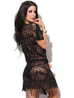 Vêtement de nuit Femme Lingerie en Dentelle/Ultra Sexy/Costumes Mélanges de Coton/Dentelle/Maille