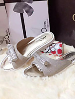 Women's Shoes  Low Heel Pointed Toe Sandals Casual Silver/Gold