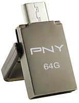PNY otg duo-lien ou5 64gb lecteur flash USB, gris