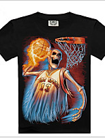 Men's 3D Printing O-Neck Short-Sleeve T-Shirt (Cotton)Shirt