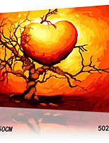DIY Digital Oil Painting With Solid Wooden Frame Family Fun Painting All By Myself     Love  5028