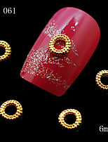 10pcs Gold Round Oval Design Nail Art Decoration Alloy Rhinestone Decoration for Nails Glitter Nail Tools