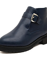 Women's Shoes Low Heel Fashion Boots Boots Casual Black/Blue
