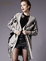 Women's Casual Stretchy Thick Long Sleeve Cardigan (Knitwear) SF7F13
