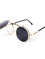 100% UV400 Round Retro Punk Clamshell Sunglasses
