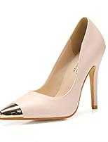 Women's Shoes Stiletto Heel Pointed Toe Pumps/Heels Casual Black/Beige