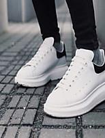 Zapatos de mujer Cuero Tacón Plano Punta Redonda Sneakers a la Moda Casual Blanco