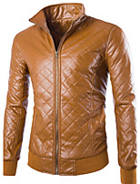 Men's Casual Long Sleeve Regular Jacket (Sheepskin)