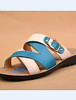 Women's Shoes e Flat Heel Mary  Sandals Casual Blue/RED