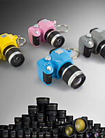 Mini SLR Camera Toy Keychain Novelty Keyring Charm LED Flash Torch (Random Color)