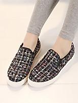 Zapatos de mujer - Plataforma - Punta Redonda - Tacones - Casual - Tejido - Negro / Amarillo / Gris