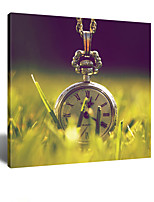 VISUAL STAR® As Time Goes By - Clock Canvas Art Printing Stretched Canvas High Quality Canvas Ready to Hang